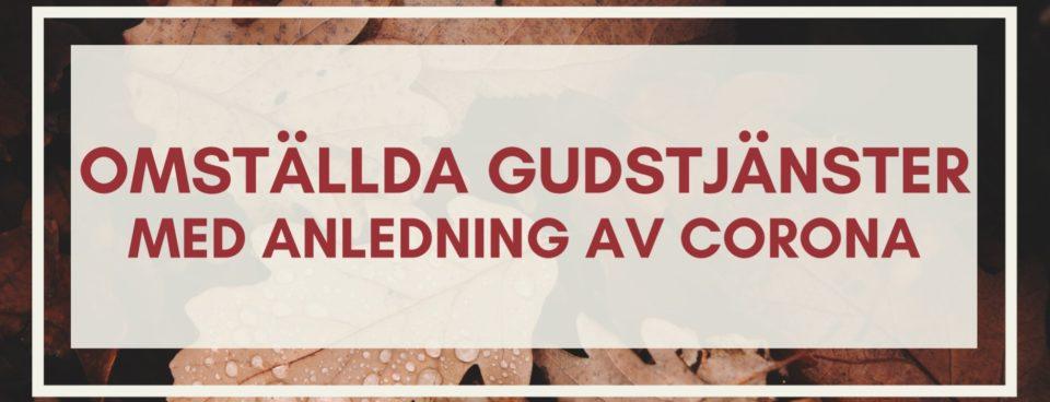 MED ANLEDNING AV COVID-19